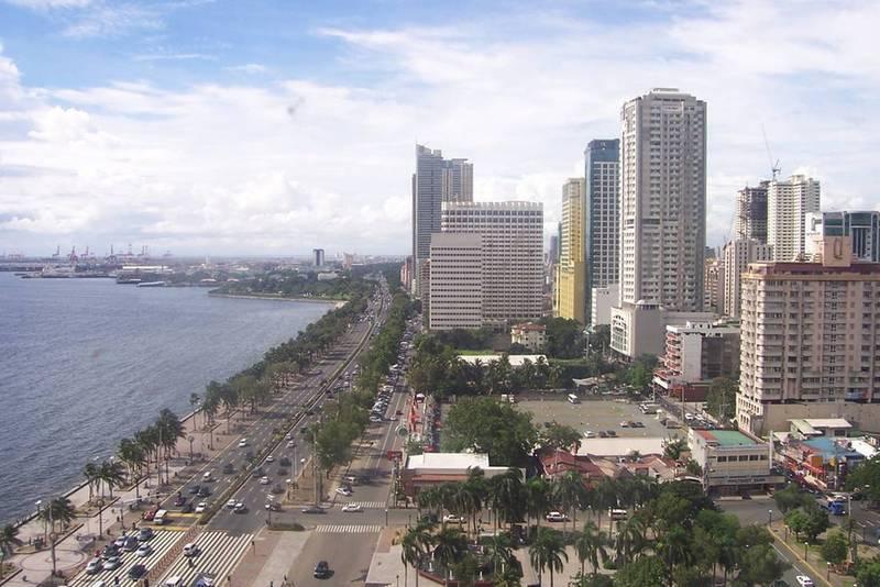 Вид на Манилу с птичьего полета